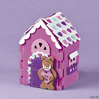 The 3_D Valentine Bear Cottage Craft Kit is one of the Valentine craft ideas for kids