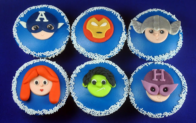 the avengers party supplies cupcakes