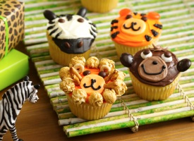 Jungle Animal Cupcakes For Your Next Kids Birthday Party