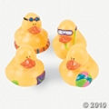 Beach Rubber Duckies make a fun party favor idea