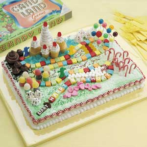 Make A CandyLand Cake to go with your CandyLand Party Theme.