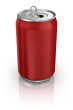 Three Red Soda Cans and 3 White Soda Cans