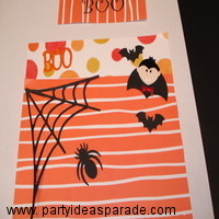 Making A Homemade Card for Halloween.  Click on this handmade card picture to see more card pictures and ideas.