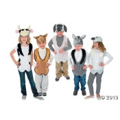 Here are some kids animal costumes for a Nativity scene