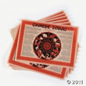 Chinese Zodiac Placemats for the New Year Celebration