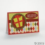 Here is another festive set you can make up to 12 holiday cards with.