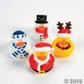 Christmas Rubber Duckies make fun stocking stuffers or decorations.  Get your own Santa, Snowman and Reindeer Ducks.