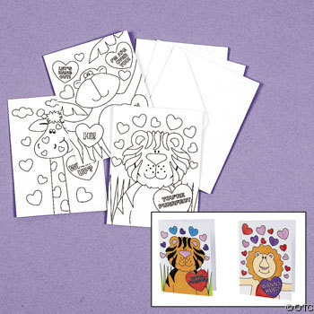 Color your own valentine cards Valentine craft ideas for kids