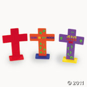 Design Your Own Foam Cross Kit is a fun religious Easter craft project kids will enjoy.