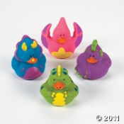 Dinosaur Rubber Duckies are perfect for a kids Dino themed birthday party!