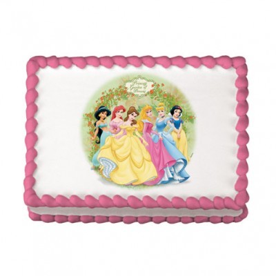 Find Edible Cake Images And Easy Cake Decorating Ideas.  Look at this Disney Princess Edible Image.