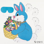 Pin the Tail on the Bunny is an easy and fun kids Easter party game.