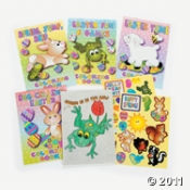 Easter Games and Activity Books with Stickers