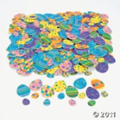 Here are some foam cut out shapes for Easter craft ideas.