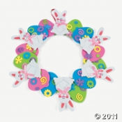An Easter Egg Wreath is always fun to make and pretty to hang up.