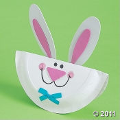For some Fun with your kids try this Easter Bunny Paper Plate Craft Kit.