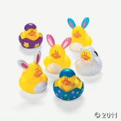 These Easter Rubber Duckies are very cute, aren't they?