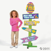 Easter Egg Hunt Clues are all in this fun sign