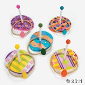 Easter Wooden Ring Toss Game.  Ring Toss is a fun kids party game any time of the year!