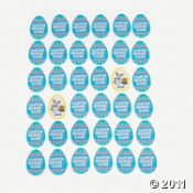 Easter Egg Shaped Memory Party Game