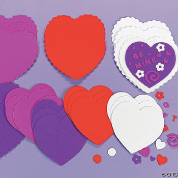 Fabulous Foam Valentine Hearts for Valentine Craft Ideas For Kids