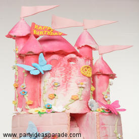 Our Fondant Castle Birthday Cake with Butterflies is a link that will take you to more fondant cake pictures.