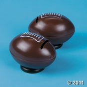 Pink Pigskins - Take a look at these relaxable pig footballs to use a a kids game prize or a party favor.