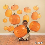 Here are pumpkin cutouts to use for drawing pumpkin faces this Halloween.