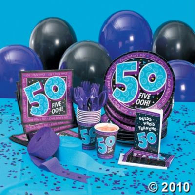 50th Birthday Party Supplies For A Mile Stone Birthday Party