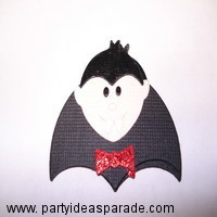 Dracula I used for a homemade Halloween card
