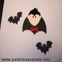 Dracula and two bat cutouts
