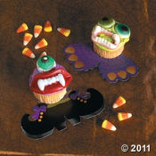 Homemade Scary Monster Cupcakes For Halloween Made With Candy