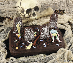 a halloween cake you can use for a fear factor party - Halloween Fear Factor Games