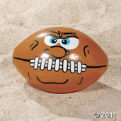 This inflatable football has its game face on.  Fun to toss around, give one out to every guest!