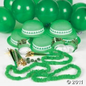 Here are some green party supplies for your St Patrick's Day bash!