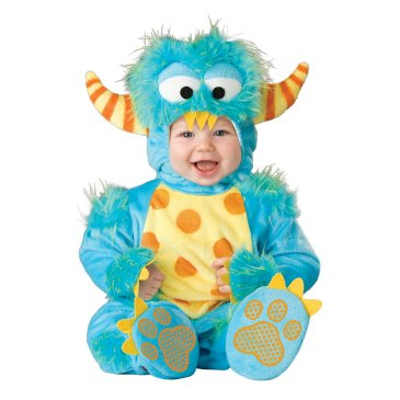 This Lil Monster Infant Toddler Costume is my favorite baby's Halloween costume.  It's the perfect disguise for your little boy or girl.