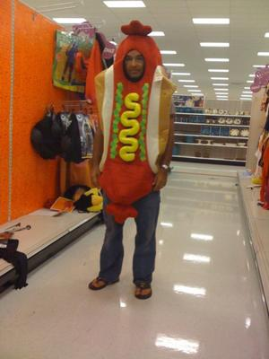 Me in a Hot Dog Costume...I love this picture!