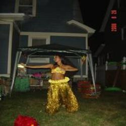 Picture of a Hula Dancer at the Luau
