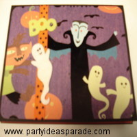 Count Dracula on a homemade greeting card
