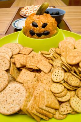 Kids Halloween Party Food Ideas - Make A Pumpkin Face Cheese Ball