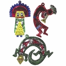 Mexican Tin Ornaments for Christmas come in a variety of shapes and sizes.