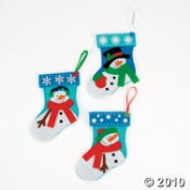Mini Christmas Stockings make a great kids holiday craft project.