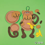 Monkey Birthday Party Craft Ideas.  Look at this craft kit for kids...it will be lots of fun at your Monkey theme party.