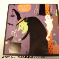 Here is the other Witch card.  Compare the two.