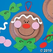 Paper Plate Gingerbread Man Craft Kit