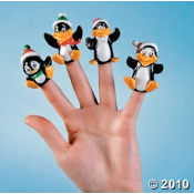 Penguin Finger Puppets are fun at kids parties.