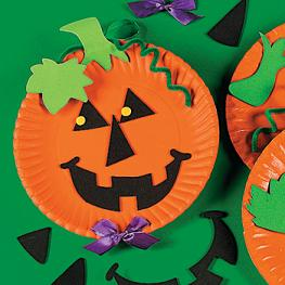 Pumpkin Craft Ideas Kids on Paper Plate Jack O  Lantern Craft Kit