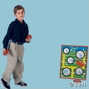 Football Toss Game  with football shaped beanbags is a fun game for your Football or Super Bowl party games.
