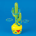 Ring Toss with a Cowboy Theme Using An Inflatable Cactus