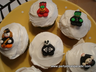 Scary Bunch of  Halloween Cupcake Decorations